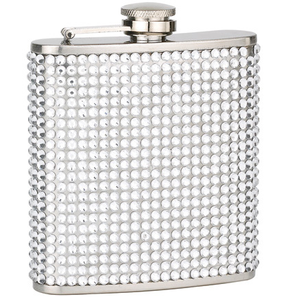 Flask rhinestone clear